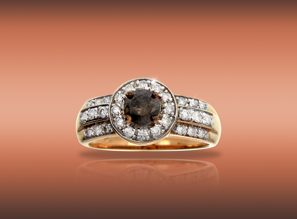 True Love Brown Diamond Ring