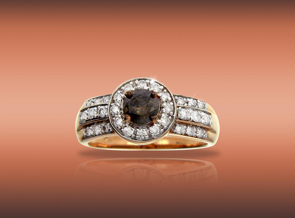 True Love Brown Diamond Ring